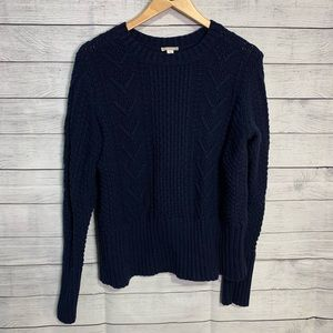 Navy blue GAP cable knit sweater